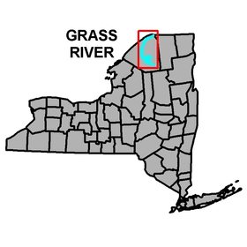 NYS Overview map of the location of the Grass River