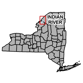 Map shows location of Indian River