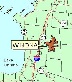 Location Map of Winona State Forest