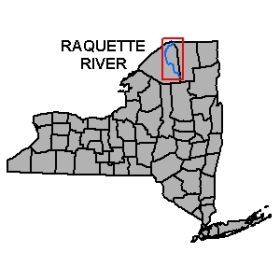 Map of Raquette River