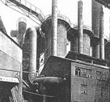 Historic photo of the Hanna Furnace facility, formerly located at the Union Ship Canal Site
