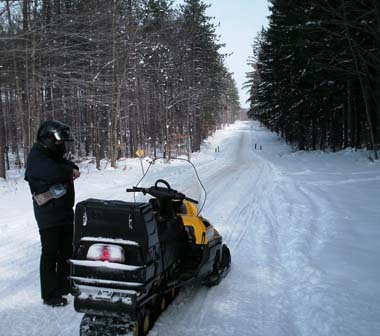 Snowmobile Trails are popular at Hatch Creek State Forest