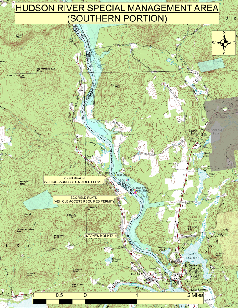 Map of the Northern Portion of the Hudson River Special Management Area (HRSMA)