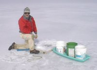Ice fisherman