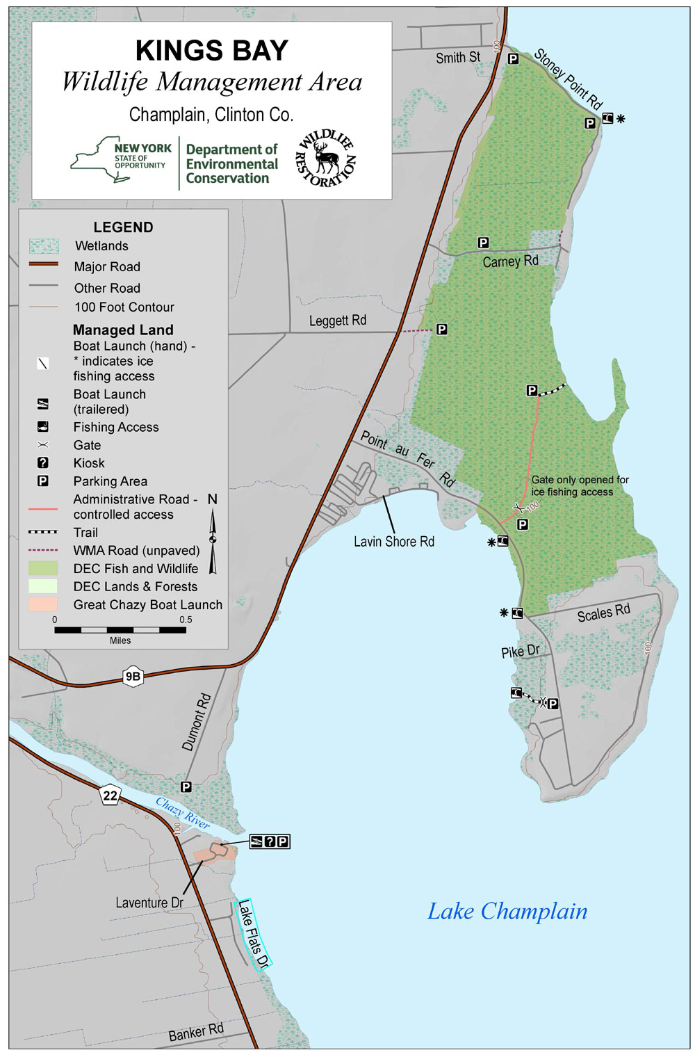 Map of King's Bay Wildlife Management Area