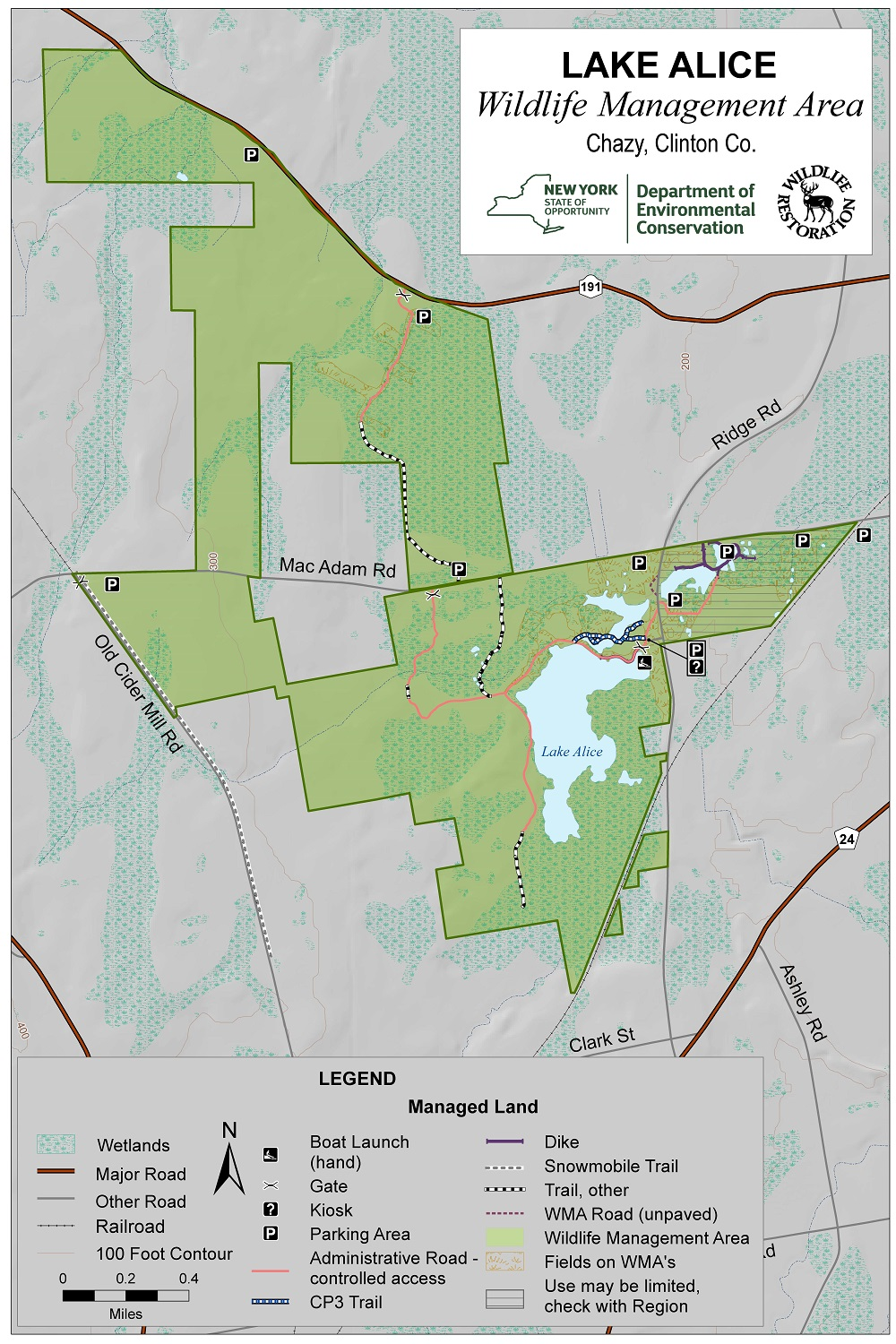 Lake Alice Wildlife Management Area Map