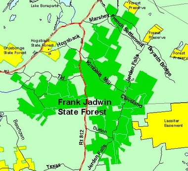 Map of Frank Jadwin State Forest