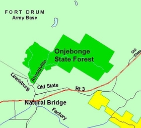 Map of Onjebonge State Forest