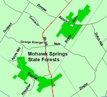Map of Mohawk Springs State Forest