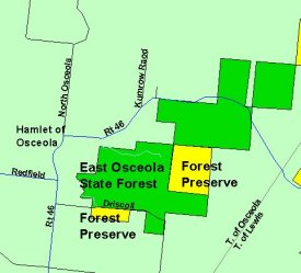 Map of East Oseola State Forest