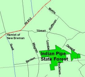 General Location Map of Indian Pipe State Forest