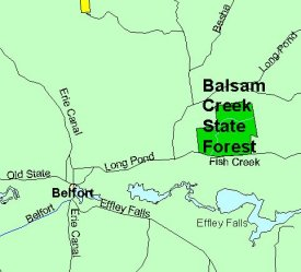 General location map of Balsam Creek