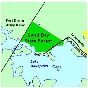 Map of Sand Bay State Forest