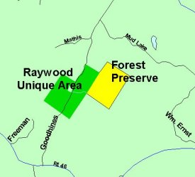 Map of Raywood Unique Area
