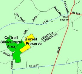 Map of Cottrell Silvicultual Area