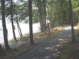 Accessible boat launch at Long Lake