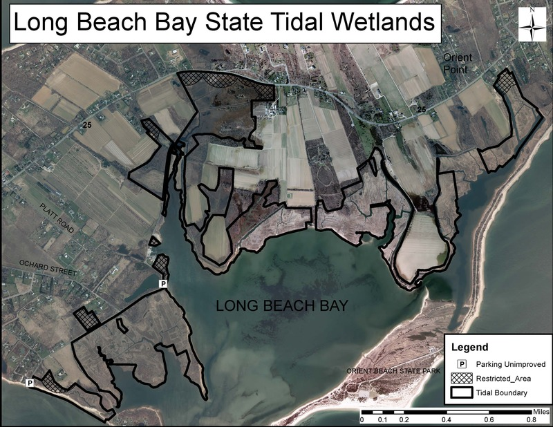 Map of Long Beach Bay State Tidal Wetlands