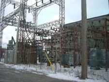 Electric substation at Former Mill Number 2 Site
