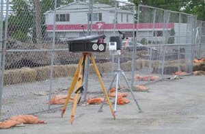 Special equipment monitored the air to ensure the safety