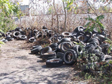 Used tires dumped at the Old Upper Mountain Road Site
