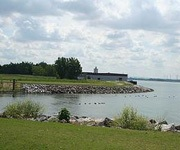 The Buffalo Outer Harbor site was cleaned up into a public green space featuring a recreational trail and restored ecological habitat. (Photo courtesy of NFTA)