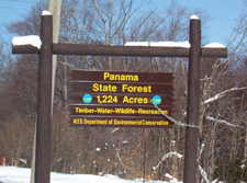 Panama State Forest sign