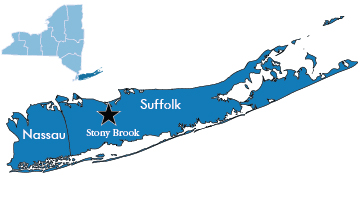 Map of DEC Region 1 Long Island