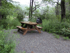 a view of Remsen Falls picnic site