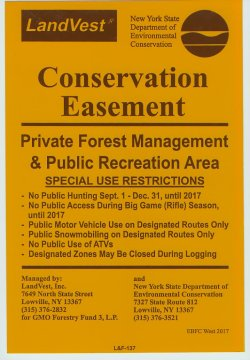 Public Recreation Area Sign