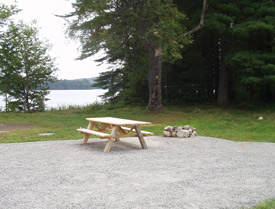 a view of the self contained unit camping site