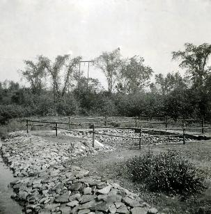 A picture of a CCC water hole constructed in 1936