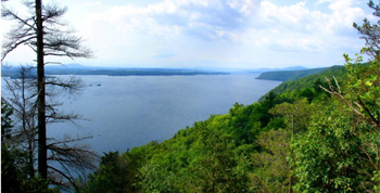 View of Lake Champlain from Split Rock Mountain