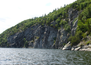 Palisades along Lake Champlain