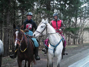 Horseback riders enjoy a trail on the South Valley State Forest property.