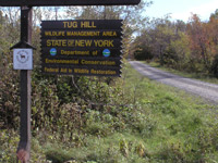 Sign at entrance to Tug Hill Wildlife Management Area