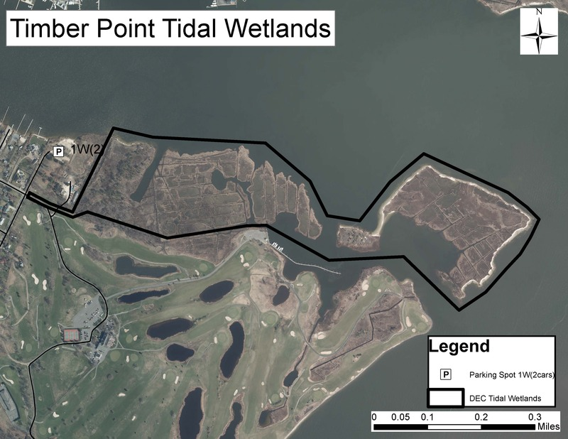 Map of Timber Point State Tidal Wetlands