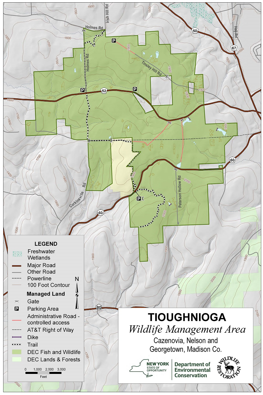 Tioughnioga Wildlife Management Area Map