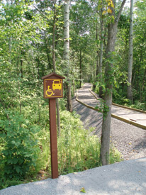 Parking and accessible trail at Upper and Lower Lakes WMA