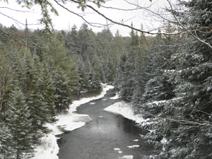 Middle Branch of the Oswegatchie River in winter