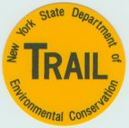 Yellow trail marker