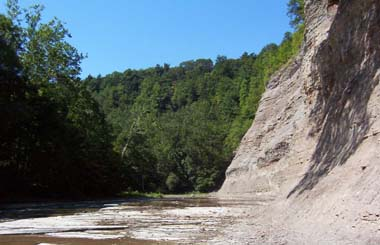 View of Zoar Valley's gorge area