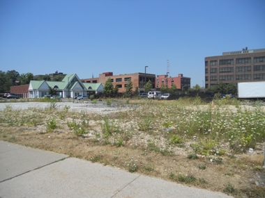 Before Remediation: Former Mobil Station site