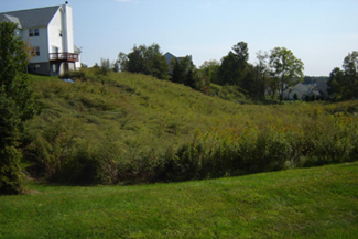 Vegetated sloops at a Pawling subdivision in Dutchess County