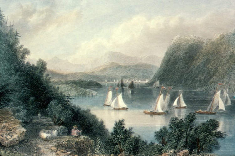 Print showing Anthony's Nose, Hudson Highlands