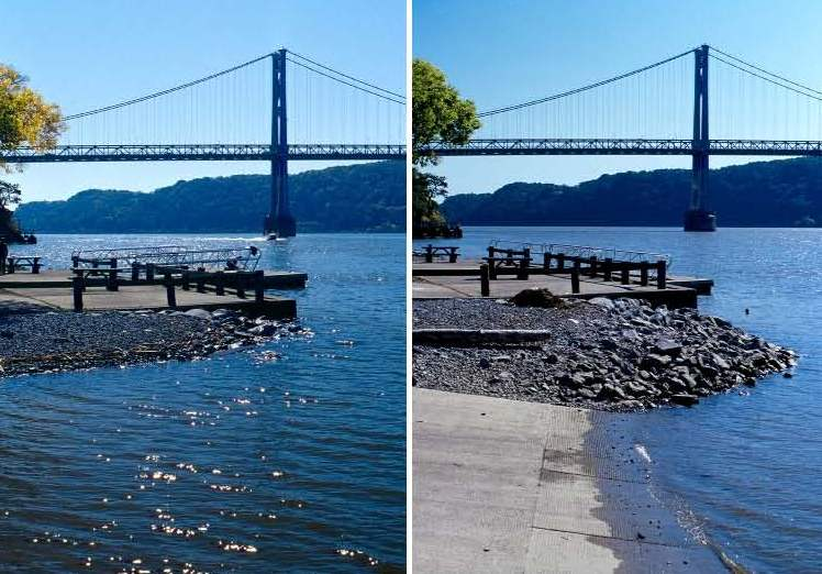 High and low tide at Poughkeepsie