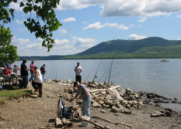 Anglers on the Hudson