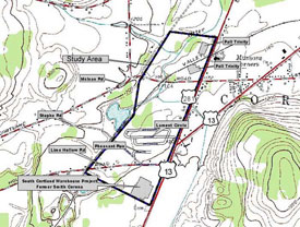 Map of Cortlandville project site