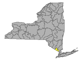 Map of NYS identifying the Ramapo River Watershed