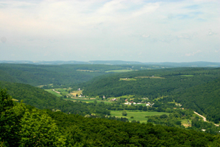 View of Canisteo Valley from a hilltop