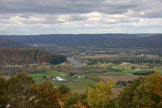 View of the Chemung River Valley